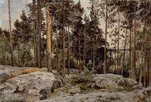 Finland konstnärer och skogen