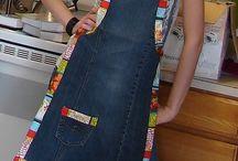 фартук джинсы