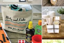 Extra deets-- going the extra mile / Welcome bags, bridesmaid, GM, toppers, favors, etc.