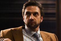 Hannibal / American Horror Series (2013-2015). Mostly Dr. Frederick Chilton (Raúl Esparza)