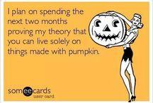 All things pumpkin :)