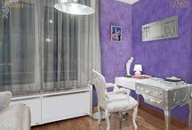 Pracovňa / Inšpirácia talianských dekoratívnych náterov.