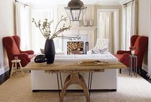 Designer living room decorating ideas / From modern and bold to traditional and cozy- here are some neat ideas from House Beautiful for decorating your living room, designer style.