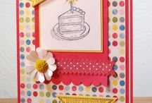Sketched Birthday / Made using Stampin' Up! Sketched Birthday stamp set.