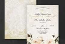 English Garden Wedding / Fall in love with these gorgeous floral invitations inspired by elegant English Gardens.
