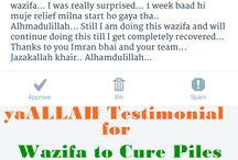 yaALLAH Testimonial for Khooni Bawaseer Piles