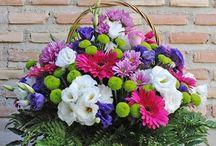 Cestas de Flores / Cestas de flores naturales de nuestra tienda online www.floristeriafernando.com