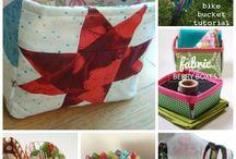 Fabric bins & baskets