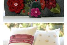 Almofadas / Crochet / Tricô