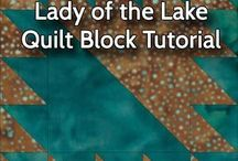 Lady of the Lake Quilt blocks