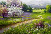 peisaje de vis - picturi