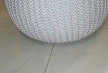 pleteny puf / puf je pleteny z textilnej priadze