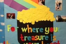 St. Patrick's Day bulletin board / This page has a lot of free St. Patrick's Day bulletin board for kids,parents and preschool teachers.