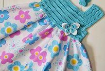 Vestidos de verao em croche e tecido