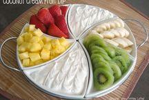 coconut cream fruit dip! yum