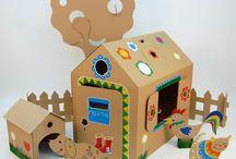 Картонные домики для детей