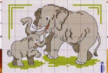 Cross stitch - elephants