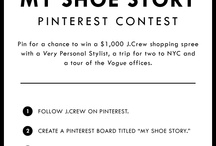My Shoe Story / J.Crew is giving one winner a trip for two to NYC, a tour of the Vogue offices, a $1000 J.Crew shopping spree with a J.Crew Very Personal Stylist, and dinner for two at a NYC Italian hot spot