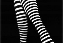 Black and white striped tights / inspired by The Wizard of Oz