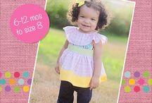 Girls Sleeveless Tops PDF Sewing Patterns