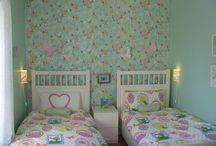 Little Sisters' Vintage Inspired Bedroom Design by Heather Craig Interiors