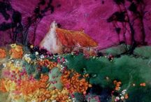 Wol-schilderijen Moy Mackay / Sfeervolle 'schilderijen' van wol, gemaakt door Moy Mackay