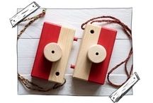 Wooden gadgets and toys
