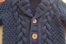 Knitted sweaters for children