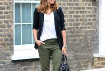 Outfit khaki trousers