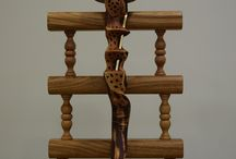 'Dancing in the Dark' Masterpiece 52.06.17. / Woodturned decorative scepter. More info and photos at www.artstreet52.com