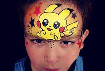 face painting pokemon