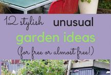 Vintage, recycled, upcycled and thrifty gardens