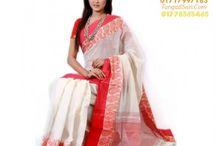 Lal Shada Pohela Boishakhi Saree Collections