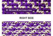 Patterns ~ Cables, mosaic, lace, brioche etc.