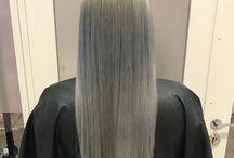 HairByHildeKatrine / Grannyhair  Greyhair  Blondehair  Balayage  Lashextensions  Blue hair Fashion  Grått hår  blått hår  Langt hår  Faith