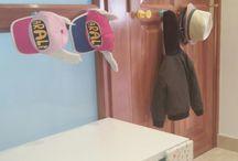 colgadores para chaquetas o gorras de los más pequeños de la casa