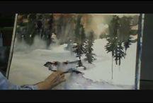 winter bos/ landschappen
