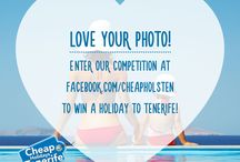 Our Holiday Competition for 2016 / Win a FREE Holiday to Tenerife! Like our Facebook Page and submit a photo of a memory or experience you had in #Tenerife.  (Please submit photo through Facebook not on Pinterest)   https://www.facebook.com/cheapholsten