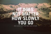 it never gets easier, you just go faster