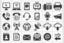 The Best of Technology and New Media Iconography / The Best of Technology and New Media Iconography, Black and white vector icons by Alex Belomlinsky.