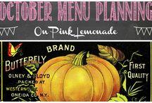 October Menu Planning / Ideas for October menus