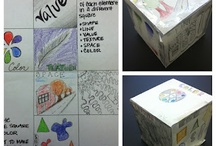Elements of art cube, book, misc. / by Emma Fosnaugh