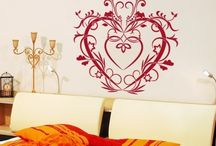 Love Decals / Set the ambiance with love inspired wall decals. All things love!