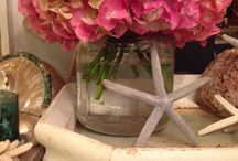 Beachy tablescapes