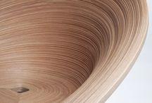 "Earth, Wood & Fire / Furniture made in wood, objetcs made in glass, or.. Interesantes resultados de los procesos del hacer ""en caliente""."