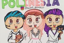 dibujos de los polinesios