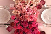 Of Ombre Wedding Inspiration / Cascading layers of colour, ombre wedding ideas and inspiration