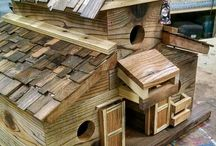 Barn birdhouses