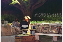 outdoor wedding seating area