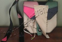 Deri Petchwork Omuz Çantası- Patchwork Leather Shoulder Bag